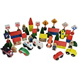 Community Town and Roadway Essentials,Trackside Accessory Set (50 Piece Set) A great add-on to any railway system - Fun, Fun, and more Fun!!