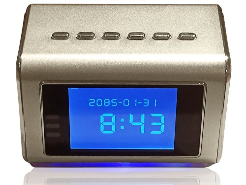 Buy Hidden Camera Clock Radio, Mp3/mp4 Player - 16gb memory card included- Motion Activated Spy Came...