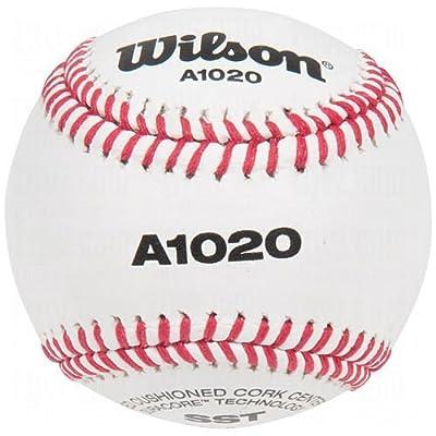 Wilson A1020 Bsst Leather Baseballs 1 Dozen