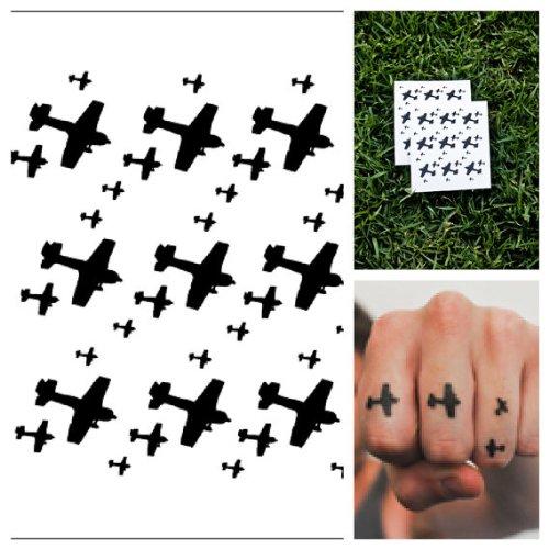 Tattify Tatouages Temporaires Avion - Air Force (Set de 2)