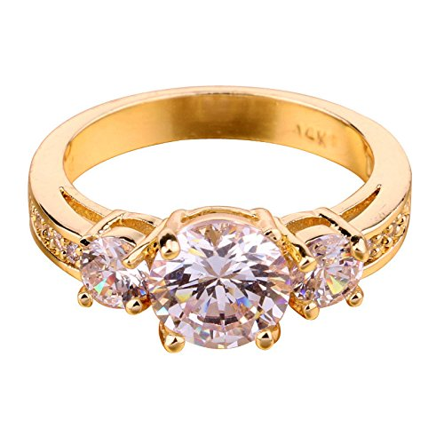 white-sapphire-cz-cubic-zirconia-10kt-yellow-gold-filled-three-stone-engagement-ring-size-7-wedding-