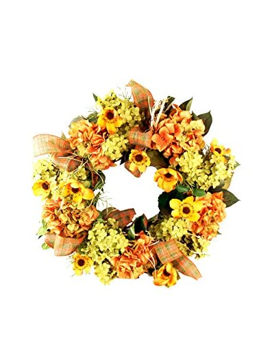Creative Displays Mixed Fall Floral Wreath, Orange/Yellow/Crème/Green