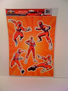 Power Rangers Static Cling Window Decoration 5 Pieces from Paper Magic