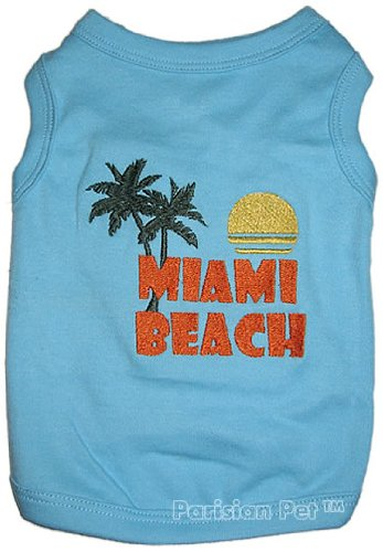 MIAMI BEACH Dog T-Shirt - Small