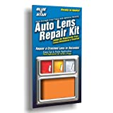 Blue Star Auto Blinker Turn Signal or Tail Light Lens Repair Kit, Amber / Orange Color (SMOOTH)