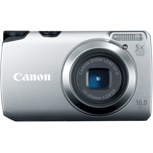 Canon Powershot A3300 IS 16 MP Digital Camera with 5x Optical Zoom (Silver)