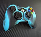 One Piece 1x Brand New High Quality Xbox 360 Remote Controller Silicon Protective Skin Case Cover -Blue Black Mix Color