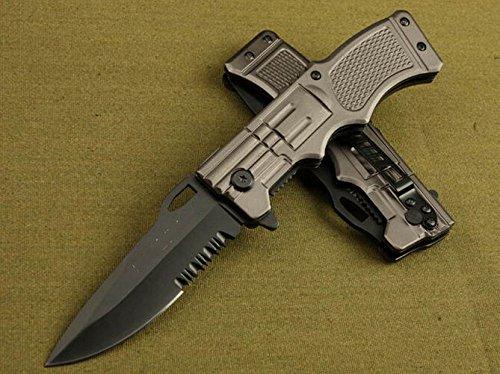 Outdoor Lock Steel Saber Rescue Folding Pocket Knife Camping Hunting Ks-932-8.07''