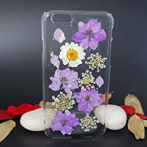 Beautiful Real Flowers Clear Slim Unique Design Phone Case for iPhone 6(15)