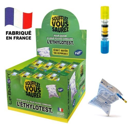 Pack de 40 x 1 éthylotest chimique NF à usage unique : Contralco