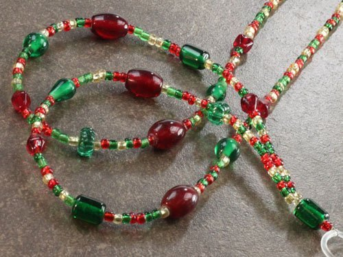 Holiday Lanyard Holiday Joy by Boojee Beads