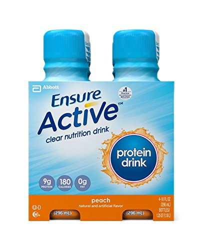 Ensure Active Protein Clear Nutrition Drink, Peach, 10-Ounce, 4 Count (Pack Of 3) (Packaging May Vary)