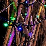 Loende Solar Powered 72ft 200LED Blue-Green 8 Modes String Lights for Garden Patio Outdoor Decor