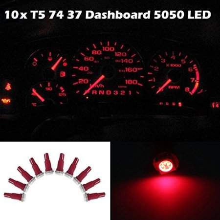 20X Round Blue T5 74 Diode LED Dashboard Dash Gauge Interior Light For Toyota