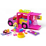 Polly Pocket - W6227 - Poupée et Mini-Poupée - Limousine Safari