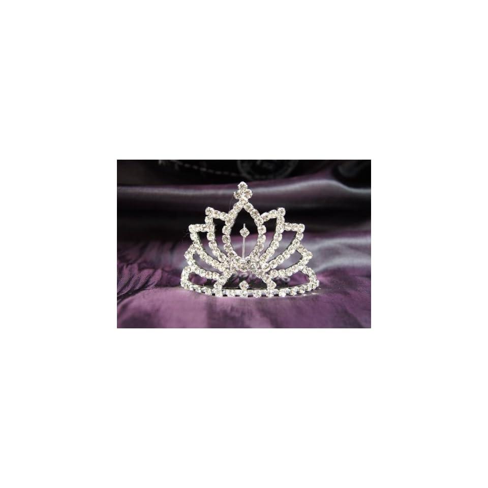Princess Bridal Wedding Tiara Crown with Crystal Leaf DH15122