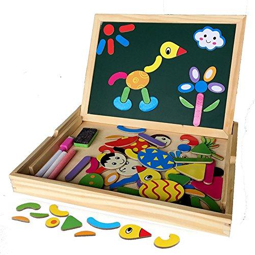 Educativo Bambino Giocattoli Lavagna Magnetica in Legno con contenitore Magnetica Jigsaw Giochi per i bambini oltre 3 Anni