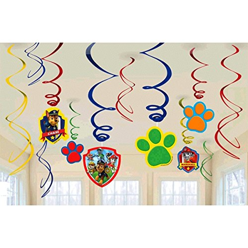 Paw Patrol Hanging Swirl Decorations (12ct)