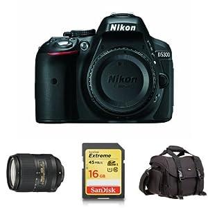 Nikon D5300 Digital SLR with 18-300mm Lens and Accessories Bundle