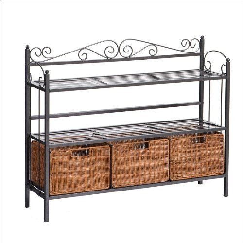Southern Enterprises Newbridge Three Drawer Baker's Rack