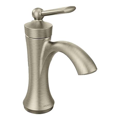 Moen 4500BN  Wynford One-Handle High Arc Bathroom Faucet, Brushed Nickel