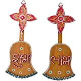999Store Shubh Labh Diwali Door Hanging With Bell And Flower Multicolour Handmade