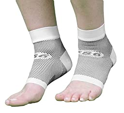 OrthoSleeve FS6 Compression Foot Sleeve (Pair), White, X-Large