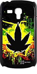 Coque pour Samsung Galaxy S3 mini - Feuille de cannabis de Jamaïque - ref 226