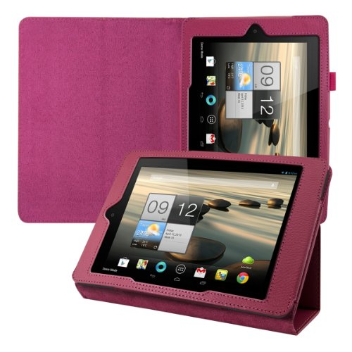 kwmobile Hülle für Acer Iconia A1-810 / A1-811 mit Standfunktion - Kunstleder Tablet Case Cover Tasche Schutzhülle in Pink