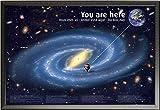 Educational – Bildung – Poster – Weltall + Wechselrahmen der Marke Shinsuke® Maxi aus edlem Aluminium (ALU) Profil: 30mm schwarz