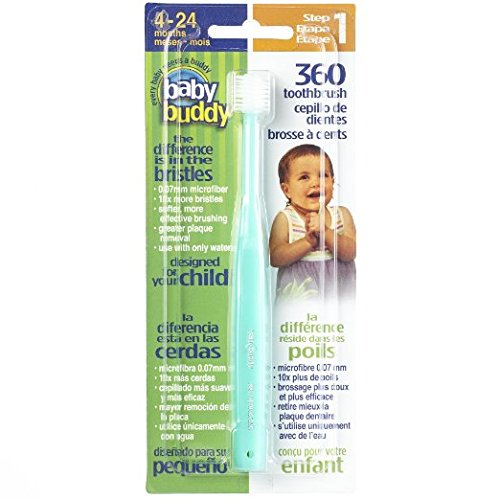 Baby Buddy 360 Toothbrush Step 1 Stage 5 for Babies/Toddlers , Kids Love Them, Green (First Baby Finger Food compare prices)