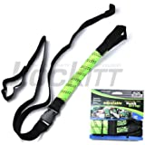 """ROK Strap Adjustable Motorcycle Stretch 18""""-60"""" 2-Pk - Lime Green"""