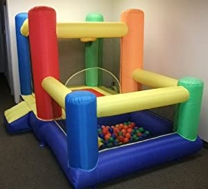 """My Bouncer Little Castle 88"""" L x 118"""" W x 72"""" H Bounce House Bopper w/ Built-in Ball Pit; Hoop & Step (Large Floor Space Required !!! Other Models & Sizes Available, Sold thru Separate Amazon Listing) by My Bouncer"""