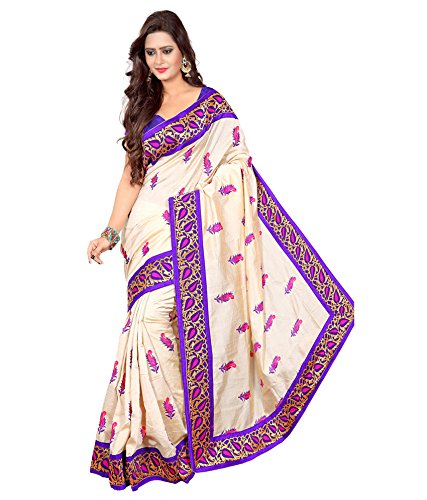 Yashoda Textile Multi Color Chanderi Silk Embrodired Sarees With Un-Stitched Blouse Piece (1y.s_529_Multi)