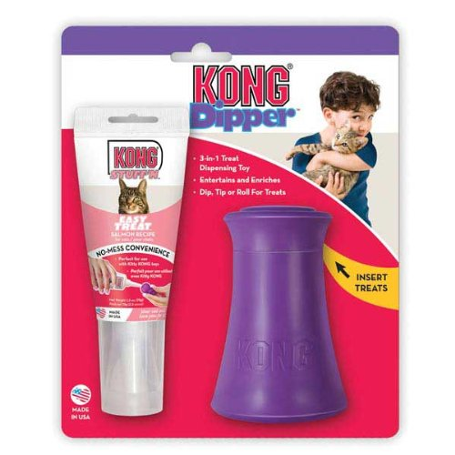 Picture KONG Kitty Dipper Salmon Combo for Cats/Kittens