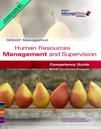 ManageFirst Human Resources Management and Supervision...