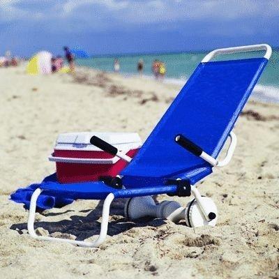 Dune Buggy Chair Rolling Beach Cart 4 Position Beach Chair Combo Blue