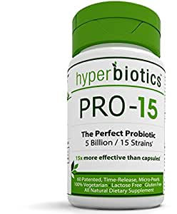 PRO-15: #1 Recommended Best Probiotic Supplement: 60 Once Daily Time Release Pearls - 15x More Effective than Capsules with Patented Delivery Technology - Easy to Swallow - Promotes Digestive Health
