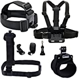 Smatree® 7 In 1 Gopro Accessories Kit Or Gopro HD Hero 4/3+/3/2/1 Camera Include Head Strap Mount+Chest Strap...