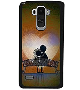 Fuson Premium Sweet Couple Metal Printed with Hard Plastic Back Case Cover for LG G4 Stylus