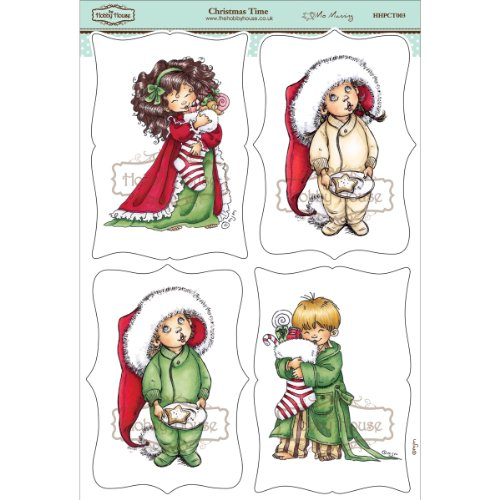 Hobby House HHPCT003 Mo Manning Topper Sheet, 8.3 by 12.2-Inch, Christmas Time