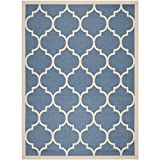 Safavieh Courtyard Collection CY6914-243 Blue and Beige Area Rug, 9 feet by 12 feet (9' x 12')