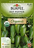 Burpee 60500 Organic Pepper, Hot Jalapeno Early Seed Packet