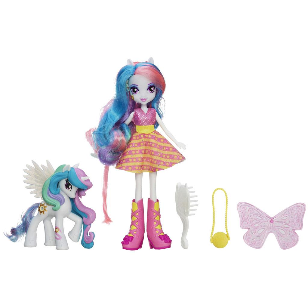 Amazon.com: My Little Pony Equestria Girls Celestia Doll and Pony Set