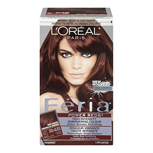 Feria Power Reds Hair Color, R48 Intense Deep Auburn (Packaging May Vary) (Loreal Red Dye For Dark Hair compare prices)