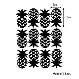 "Yanqiao 12pcs DIY Kitchen Fruit Waterproof Wall Stickers Removable Vinyl Pineapple Wall Decor 1.97*3.35"""