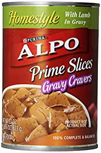 Purina Alpo Prime Slices Lamb Canned Dog Food, 22-Ounce (Pack of 12)