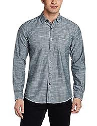 Wrangler Men's Casual Shirt (8907222641573_W1490294501Z_Medium_Frost Grey)