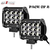 #10: AllExtreme Heavy Duty 36 Watt CREE , 12 LED Fog Light / Work Light Bar Spot Beam Off Road Driving Lamp 2 Pcs, Universal Fitting Besting Fit for All Bikes and Cars - Smallest and Most Compact Design in the Field of 36 Watt Lights