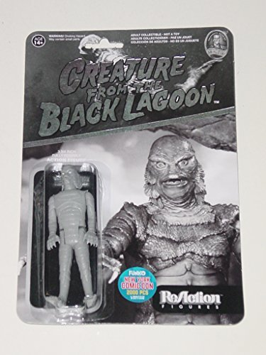 Funko Reaction CREATURE FROM THE BLACK LAGOON Universal Monsters 3.75 inch Action Figure 2015 NYCC Black & White Exclusive 1 of 2000 [New York Comic Con]